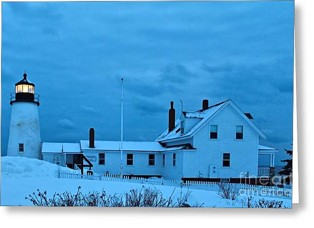 Winter In Maine Greeting Cards - Pemaquid Point_0077 Greeting Card by Joseph Marquis