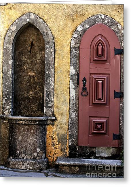 Pena Greeting Cards - Pena Palace Door Greeting Card by John Rizzuto