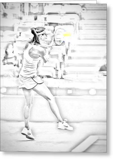 Us Open Photographs Greeting Cards - Pencil Art US Open Greeting Card by Charles A LaMatto