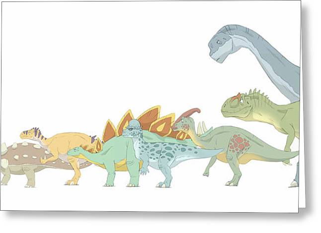 Paleontology Greeting Cards - Pencil Drawing Illustrating Various Greeting Card by Alice Turner