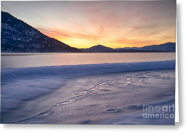 Lake Pend Oreille Greeting Cards - Pend Oreille Dawn Greeting Card by Idaho Scenic Images Linda Lantzy