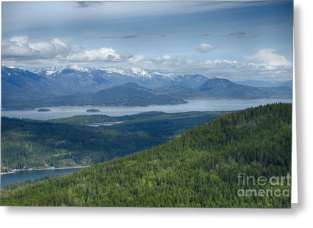 Lake Pend Oreille Greeting Cards - Pend Oreille View Greeting Card by Idaho Scenic Images Linda Lantzy