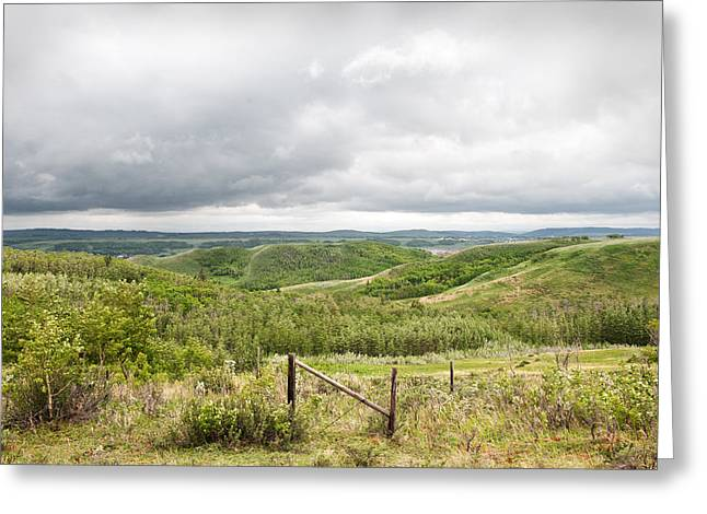 Canadian Foothills Landscape Greeting Cards - Pending Storm Over The Foothills Greeting Card by Heather Simonds