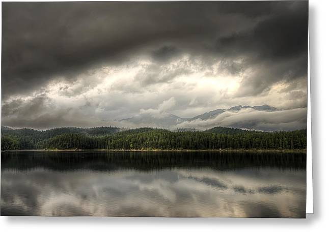 Abstract Rain Greeting Cards - Pending Storm Greeting Card by Ryan Wyckoff