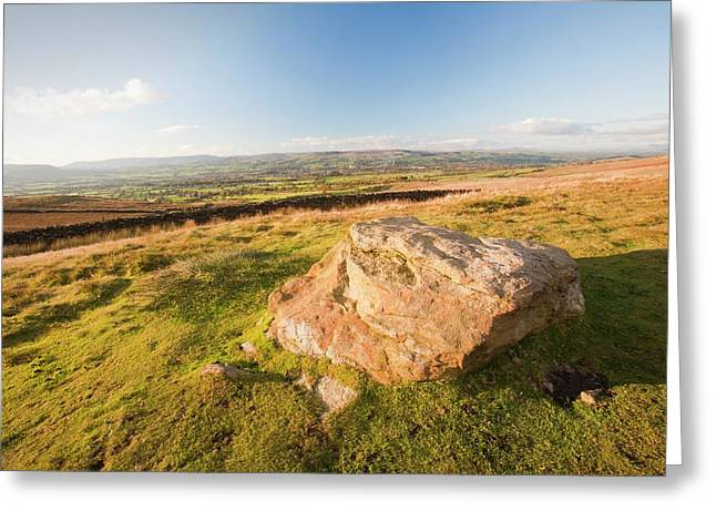 Pendle Hill Greeting Card by Ashley Cooper