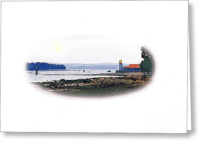 Maine Lighthouses Mixed Media Greeting Cards - Pendlebury Lighthouse Greeting Card by Art  MacKay