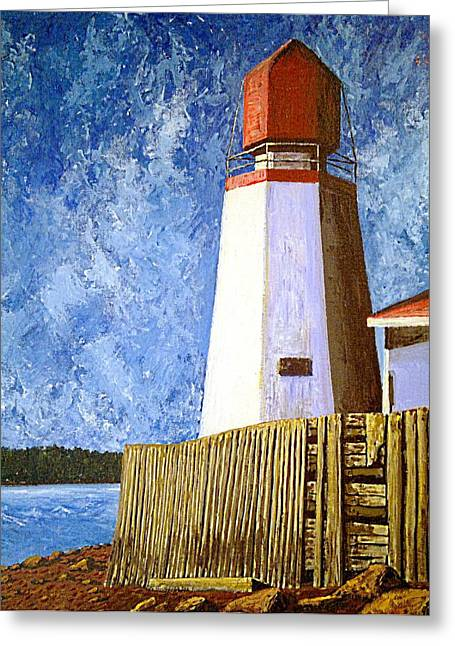 Lighthouse By The Sea Greeting Cards - Pendlebury Lighthouse Greeting Card by Michael Graham