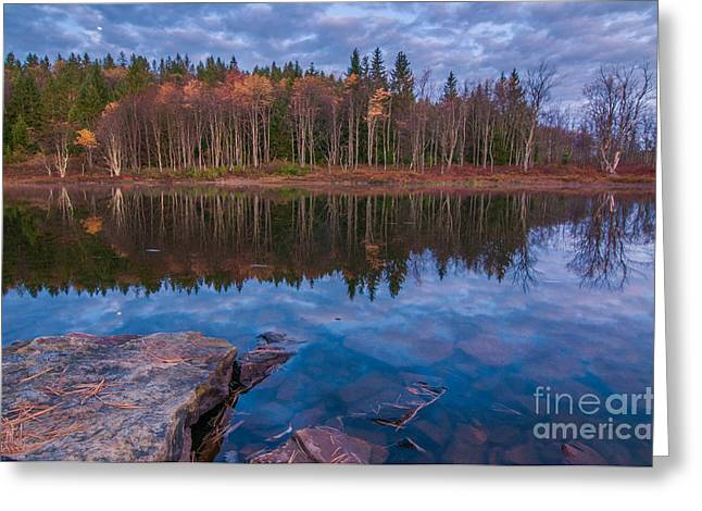 Autumn Greeting Cards - Pendleton Lake D30015931 Greeting Card by Kevin Funk