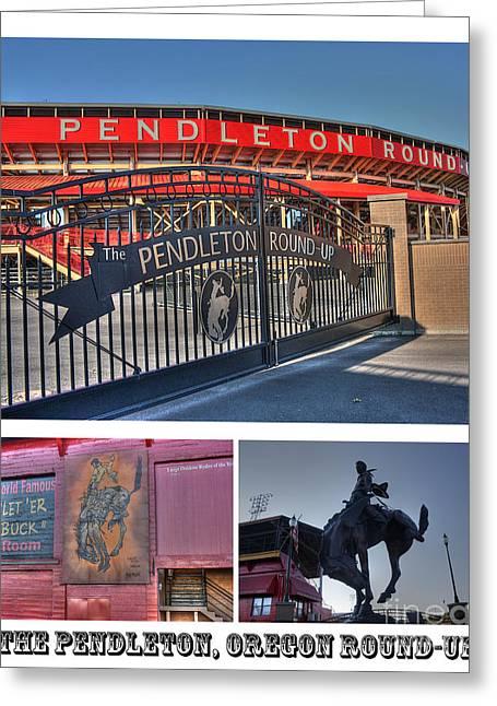 Pendleton Round-up Greeting Card by David Bearden