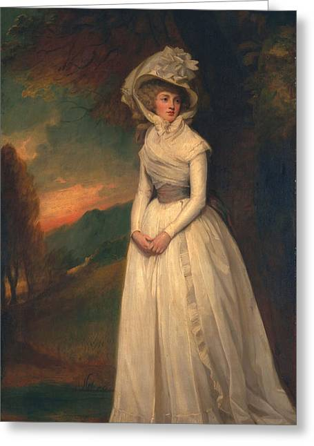 White Dress Greeting Cards - Penelope Lee Acton, 1791 Greeting Card by George Romney