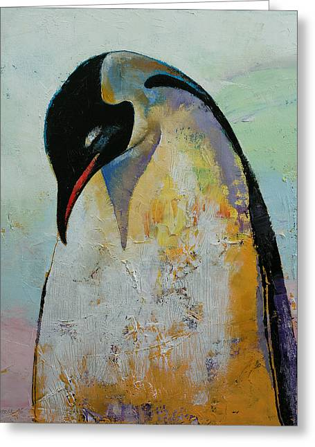 Penguins Greeting Cards - Penguin Greeting Card by Michael Creese