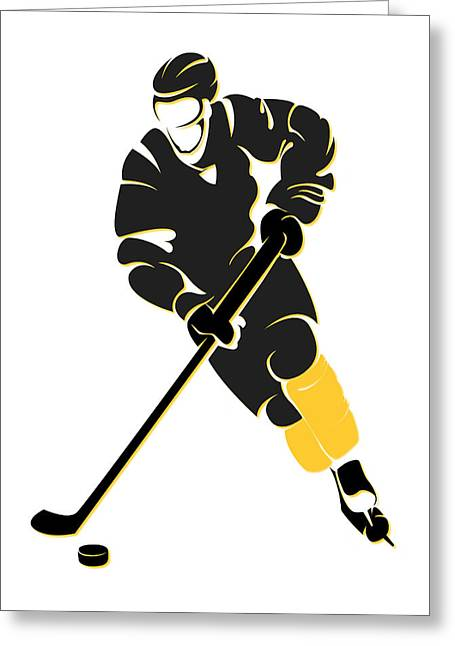 Pittsburgh Greeting Cards - Penguins Shadow Player Greeting Card by Joe Hamilton
