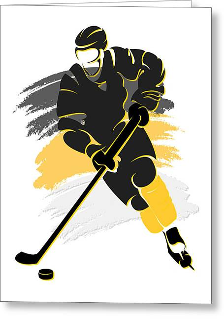 Pittsburgh Greeting Cards - Penguins Shadow Player2 Greeting Card by Joe Hamilton