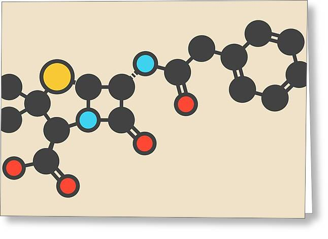 Penicillin G Drug Molecule Greeting Card by Molekuul