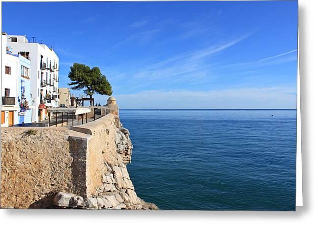 Peniscola And The Ocean Greeting Card by Matt Keys