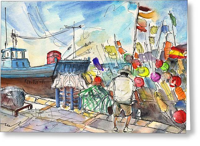 Peniscola Harbour 02 Greeting Card by Miki De Goodaboom