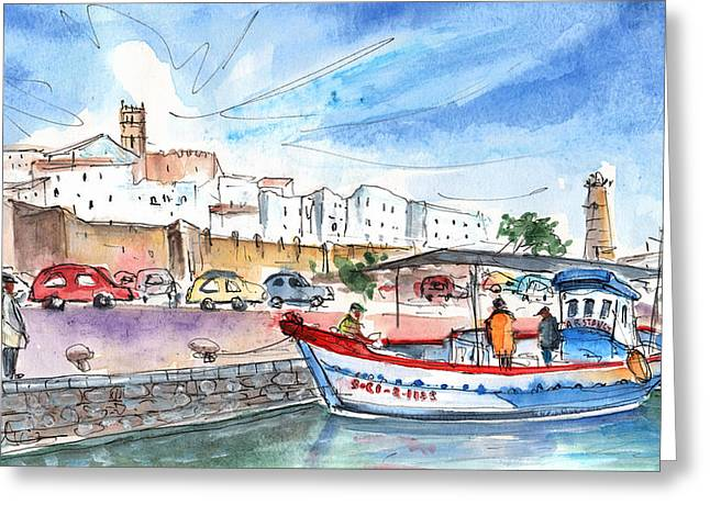 Peniscola Harbour 03 Greeting Card by Miki De Goodaboom