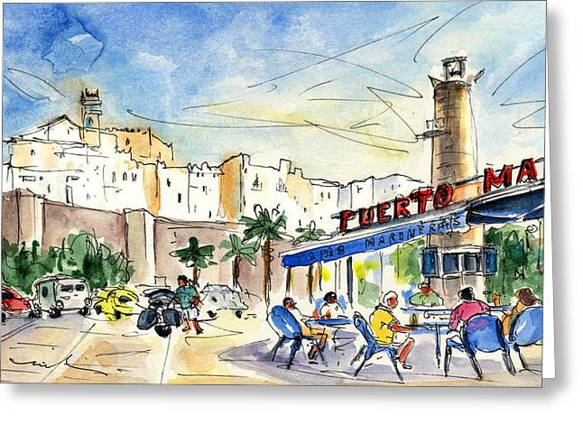 Peniscola Harbour 04 Greeting Card by Miki De Goodaboom
