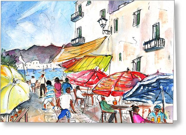 Peniscola Old Town 01 Greeting Card by Miki De Goodaboom