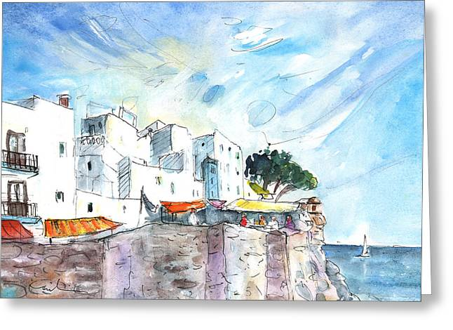 Peniscola Old Town 02 Greeting Card by Miki De Goodaboom