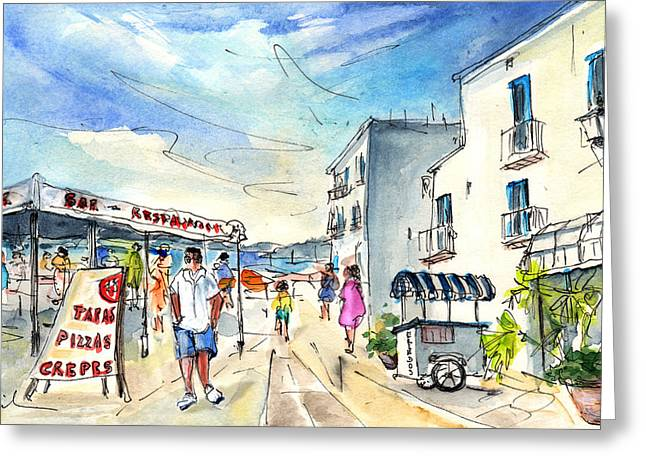 Peniscola Old Town 04 Greeting Card by Miki De Goodaboom