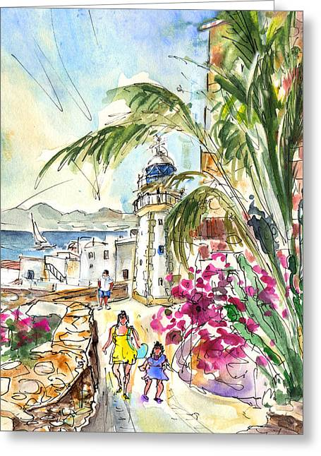 Peniscola Old Town 05 Greeting Card by Miki De Goodaboom