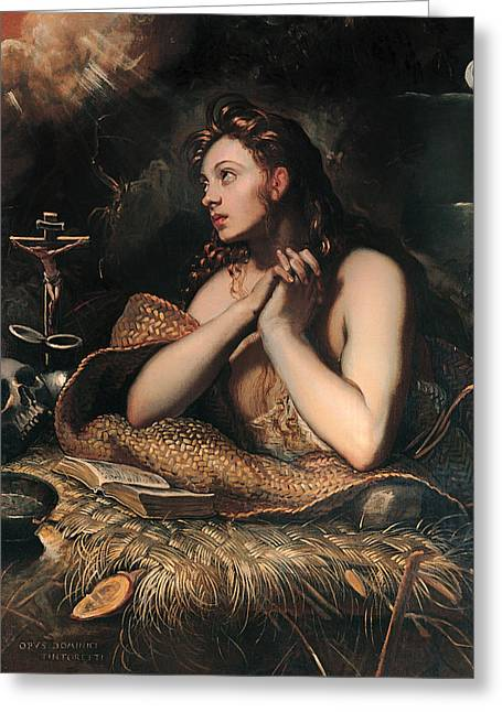Forgiveness Greeting Cards - Penitent Magdalane Greeting Card by Tintoretto