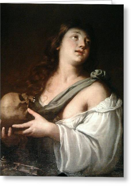 Religious Digital Greeting Cards - Penitent Mary Magdalene Greeting Card by Guido Reni