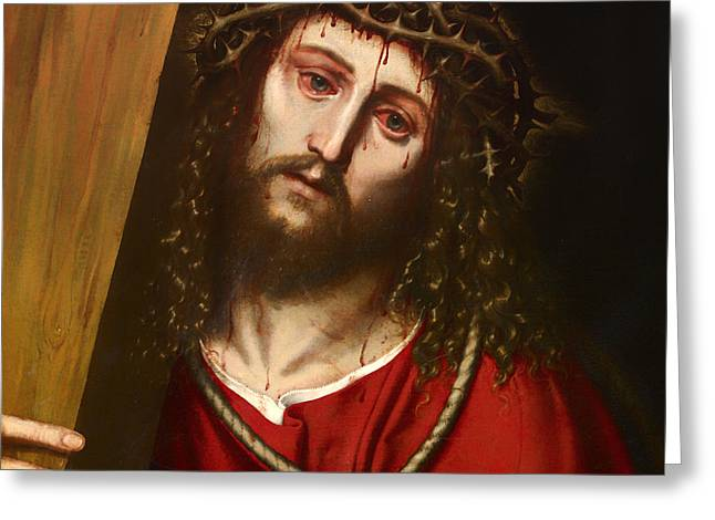 Religious work Paintings Greeting Cards - Penitent  Greeting Card by Niccolo Frangipane