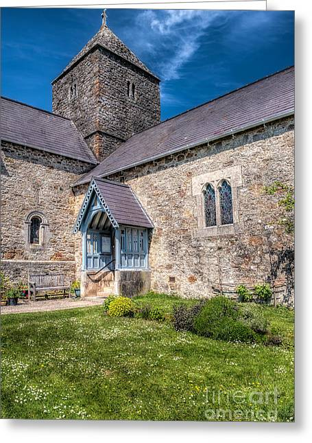 Stepping Stones Greeting Cards - Penmon Priory Greeting Card by Adrian Evans