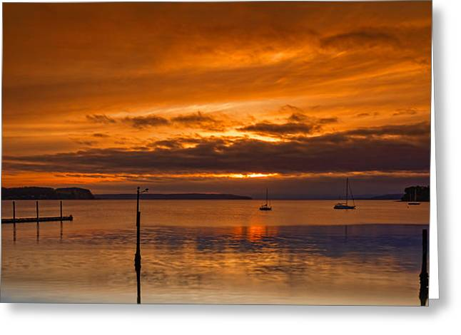 Penn Cove Greeting Card by Thomas Hall Photography