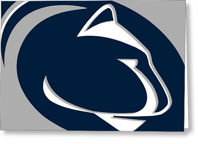 Phillies Mixed Media Greeting Cards - Penn State Nittany Lions Greeting Card by Tony Rubino
