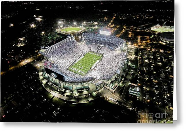 White Out Greeting Cards - Penn State Whiteout Greeting Card by Amesphotos
