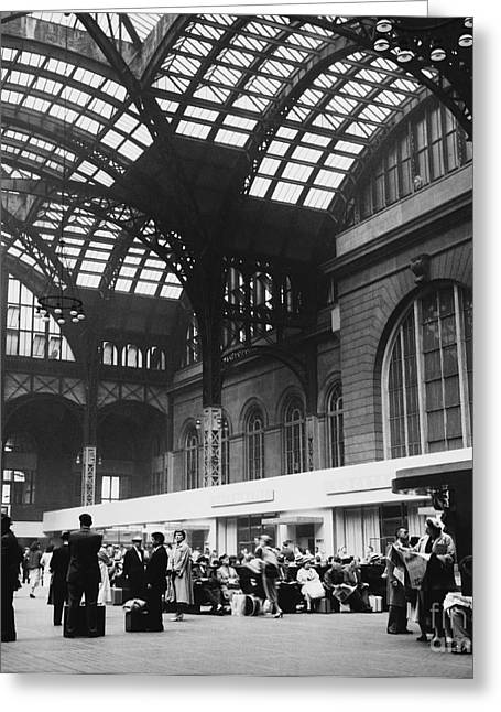 African American History Greeting Cards - Penn Station, Nyc, 1954 Greeting Card by Van D. Bucher