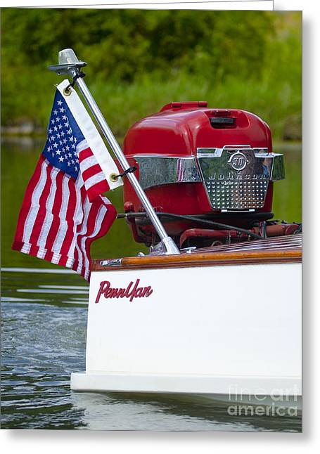 Recently Sold -  - Keuka Greeting Cards - Penn Yan Boat Greeting Card by Roger Bailey