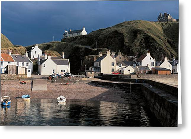 Dark Gray Greeting Cards - Pennan Banffshire Scotland Greeting Card by Panoramic Images