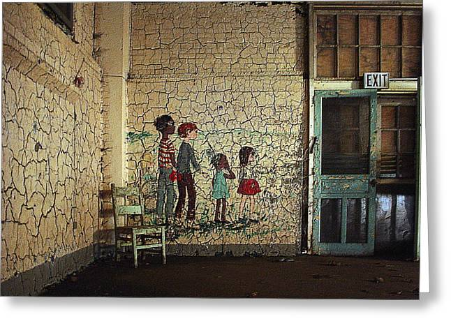 Screen Doors Greeting Cards - Pennhurst Childrens Playroom Greeting Card by W Scott Phillips