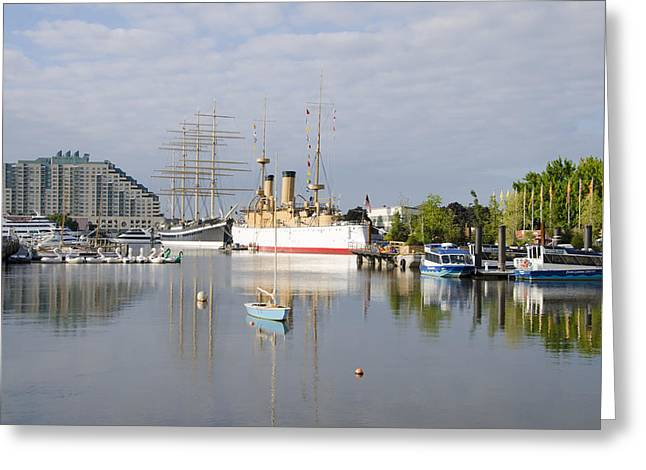 Mushulu Greeting Cards - Penns Landing in Philadelphia Greeting Card by Bill Cannon
