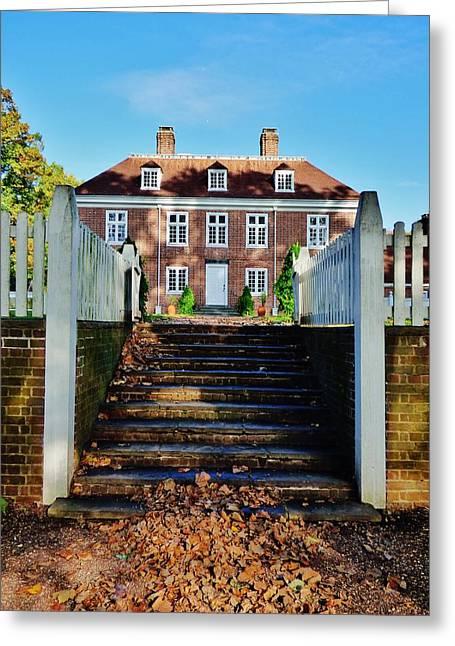 Pennsbury Greeting Cards - Pennsbury Manor Greeting Card by Greg Kear