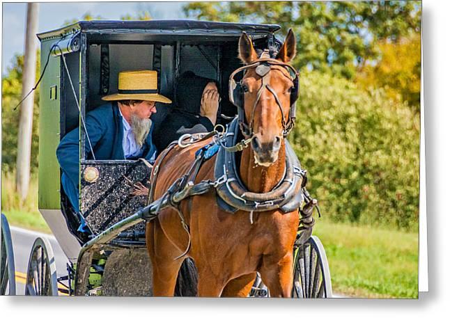 Indiana Photography Greeting Cards - Pennsylvania Amish 2 Greeting Card by Steve Harrington