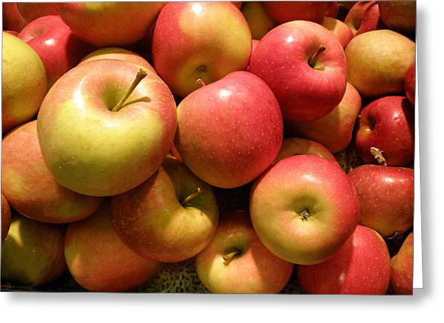 Healthy Greeting Cards - Pennsylvania Apples Greeting Card by Jean Hall