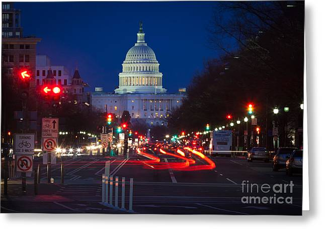 Pennsylvania Avenue Greeting Card by Inge Johnsson