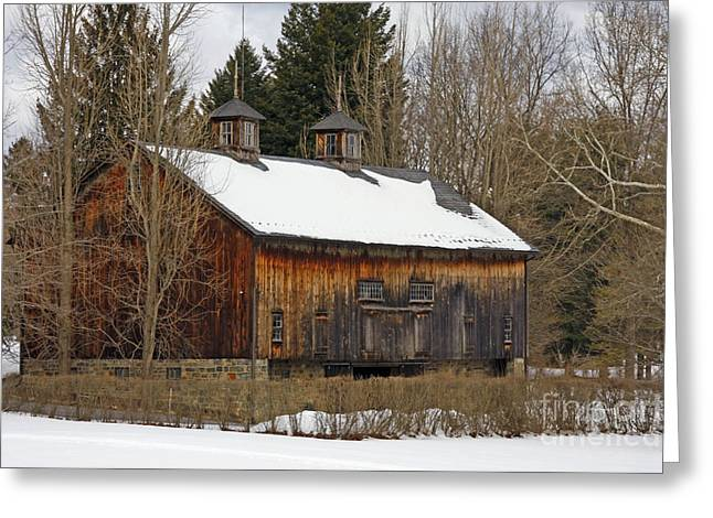 Sheds Greeting Cards - Pennsylvania Barn Greeting Card by Marcia Lee Jones