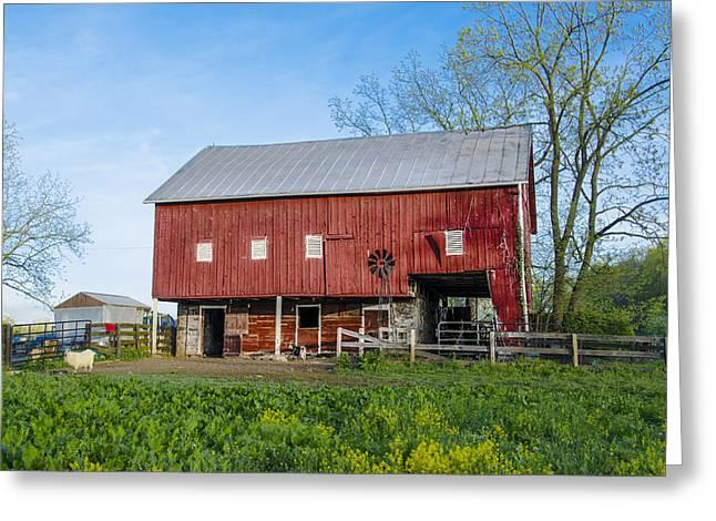 Barn Yard Digital Greeting Cards - Pennsylvania Barnyard Greeting Card by Bill Cannon