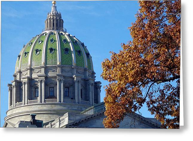 Huston Greeting Cards - Pennsylvania Capitol Building Greeting Card by Joseph Skompski