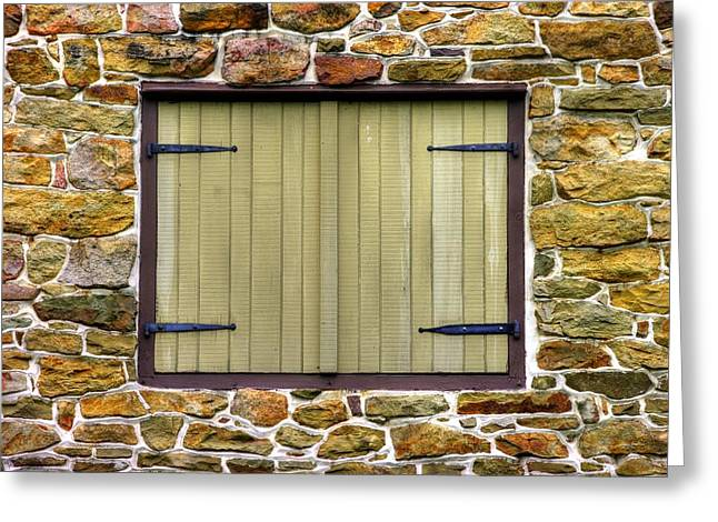 Outbuildings Greeting Cards - Pennsylvania Country Roads - Shuttered - Fort Hunter Park Outbuilding - Dauphin County Greeting Card by Michael Mazaika