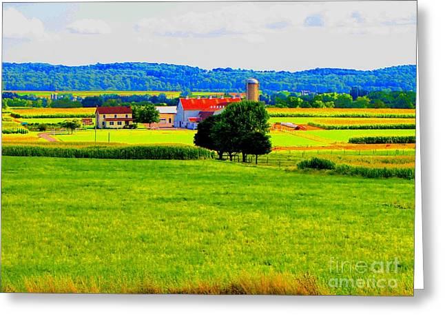 Pennsylvania Farm Greeting Card by Annie Zeno