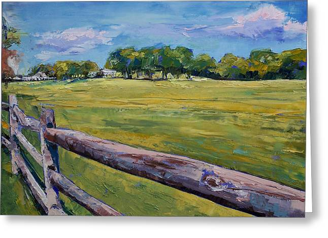 Granja Greeting Cards - Pennsylvania Farm Greeting Card by Michael Creese