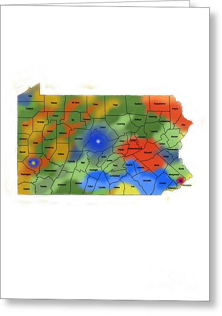 Penna Greeting Cards - Pennsylvania Greeting Card by Skip Willits