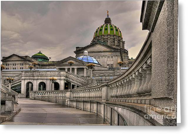 Lois Bryan Greeting Cards - Pennsylvania State Capital Greeting Card by Lois Bryan